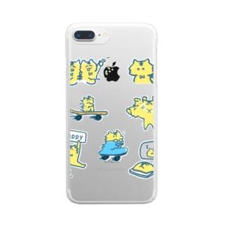 ふたごのとらのこ〜! Clear smartphone cases