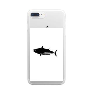 カツオ課 Clear smartphone cases