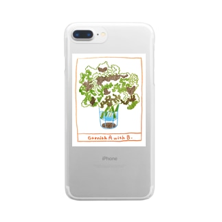 Garnish A with B Clear smartphone cases