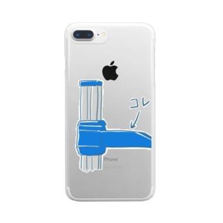 身長測るやつのコレ Clear smartphone cases