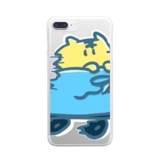 いそぐとら Clear smartphone cases