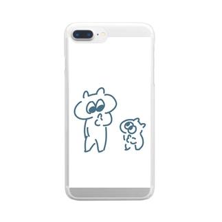 Miraiの確認しあう生き物。 Clear smartphone cases