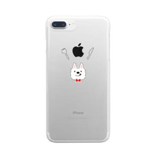食いしん坊ウエスティ Clear smartphone cases