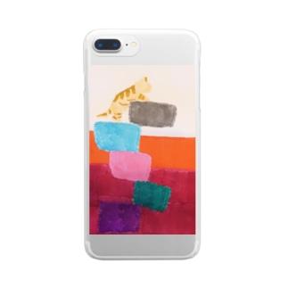 アンバランスな猫 ver.2 Clear smartphone cases