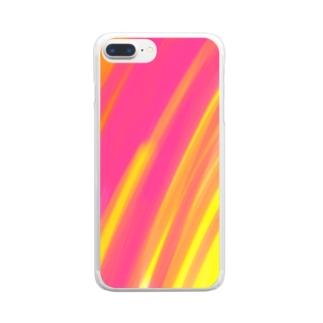 はるの嵐 Clear smartphone cases