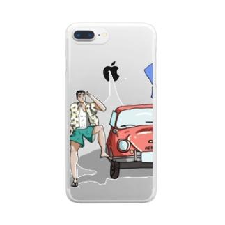 タイムトラベラー Clear smartphone cases