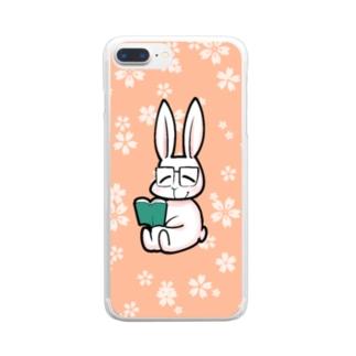うさぎのお母さん Clear smartphone cases