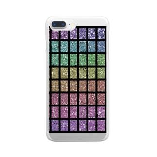 ステンドグラス風 Clear smartphone cases