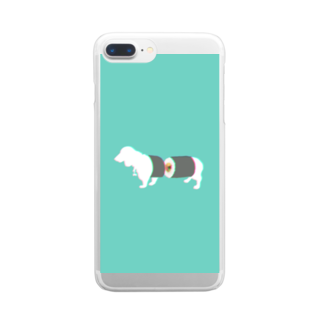 お寿司のすし犬 - sushi dog - Clear smartphone cases