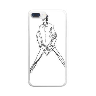 大股開き男 Clear smartphone cases