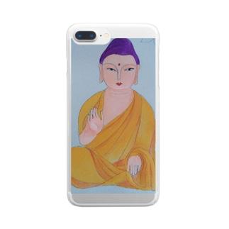 お釈迦様 Clear smartphone cases