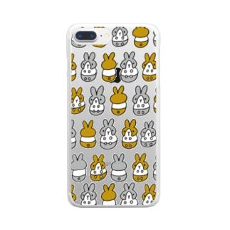 はちわれちゃん(茶・クリア) Clear smartphone cases
