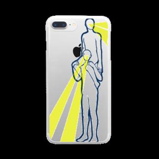 N谷すたじおの目からビームで肩車 Clear smartphone cases
