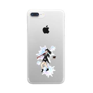 フルカラー ジャズダンサー キラメキ Clear smartphone cases