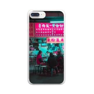 台湾夜景 Clear smartphone cases