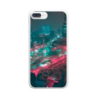 ベトナム夜景 Clear smartphone cases