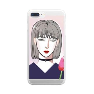 無言の花 Clear smartphone cases