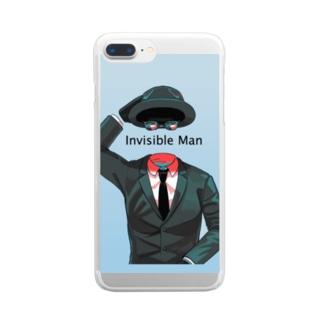 透明人間 Clear smartphone cases