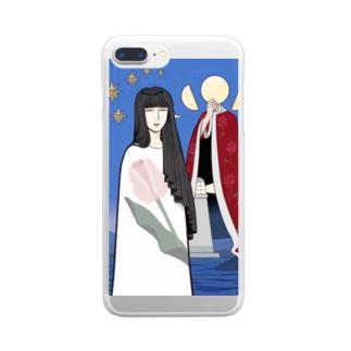 上/うえの演劇 Clear smartphone cases