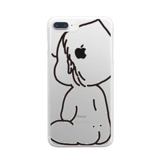 赤ちゃんblack Clear smartphone cases