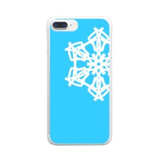 春の小雪 Clear smartphone cases