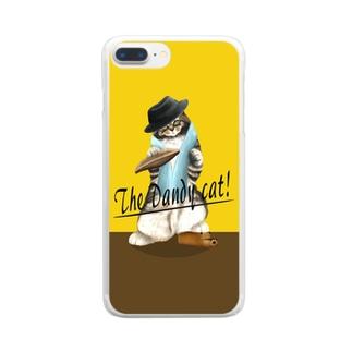 ダンディーキャット(イエロー) Clear smartphone cases