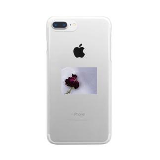 渇いた花になろう Clear smartphone cases