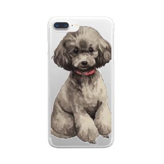 トイプードルさん Clear smartphone cases
