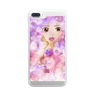 mihoret  mode  紫式部 Clear smartphone cases