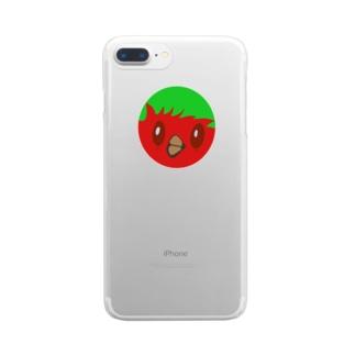 わちどりちゃんレッド Clear smartphone cases