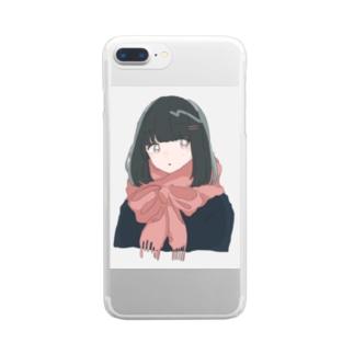 まふらこ Clear smartphone cases