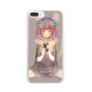 あいきゃっとといにゃほん Clear smartphone cases