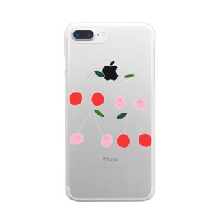 さくらんぼ Clear smartphone cases