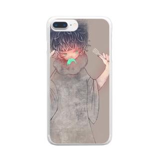 おさかなさんたべるよ Clear smartphone cases