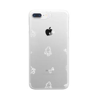 ほのぼのプードル Clear smartphone cases