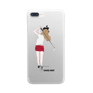 golf girl Clear smartphone cases