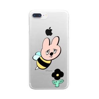 ウサギバチくん Clear smartphone cases