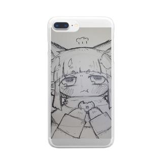 コロポックルちゃそ Clear smartphone cases