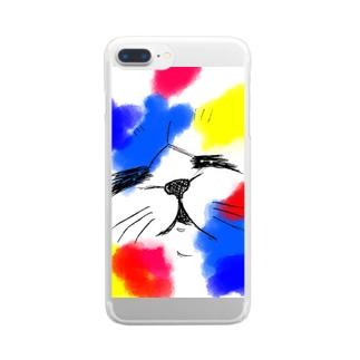 ぬこラボラス Clear smartphone cases