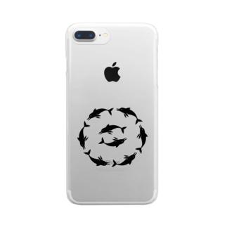 いるかあかるい Clear smartphone cases