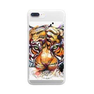 タイガーじれったいがー Clear smartphone cases