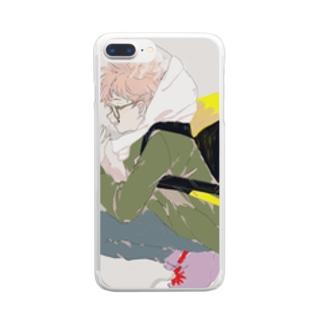 遠距離恋愛 Clear smartphone cases