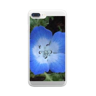ネモフィラ Clear smartphone cases