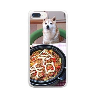 豆柴ビーンと新元号 Clear smartphone cases
