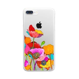 恋の予感 Clear smartphone cases
