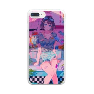 ダイナー・ダイナソー Clear smartphone cases