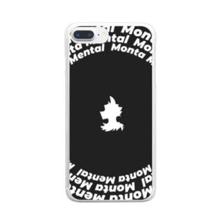 もんためんたるロゴをとりあえずハメた感じ Clear smartphone cases