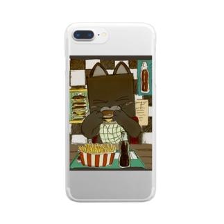 チーズバーガー Clear smartphone cases