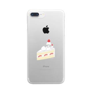 いちごのショートケーキ Clear smartphone cases