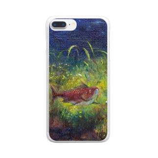 ムラナギ/レッドムーンの夜 Clear smartphone cases